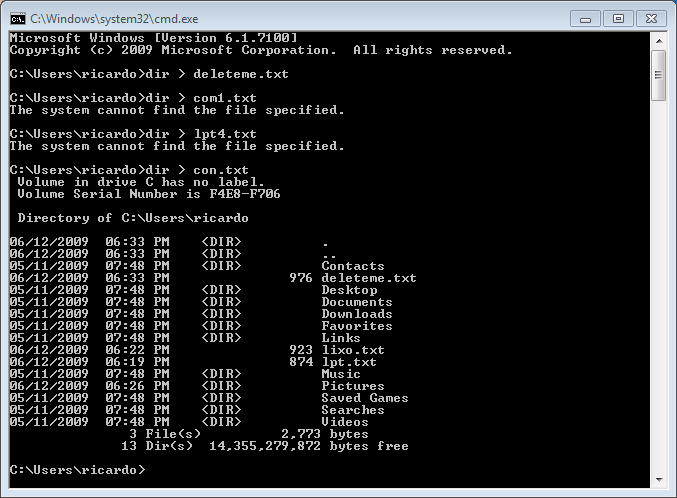 """Windows """"special"""" filenames"""