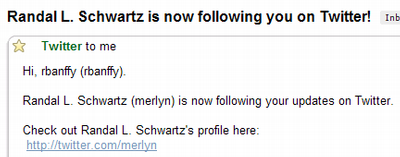 Randal Schwartz is following me!