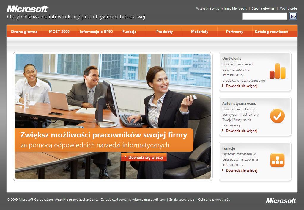 Microsoft - produtividade versão Polônia